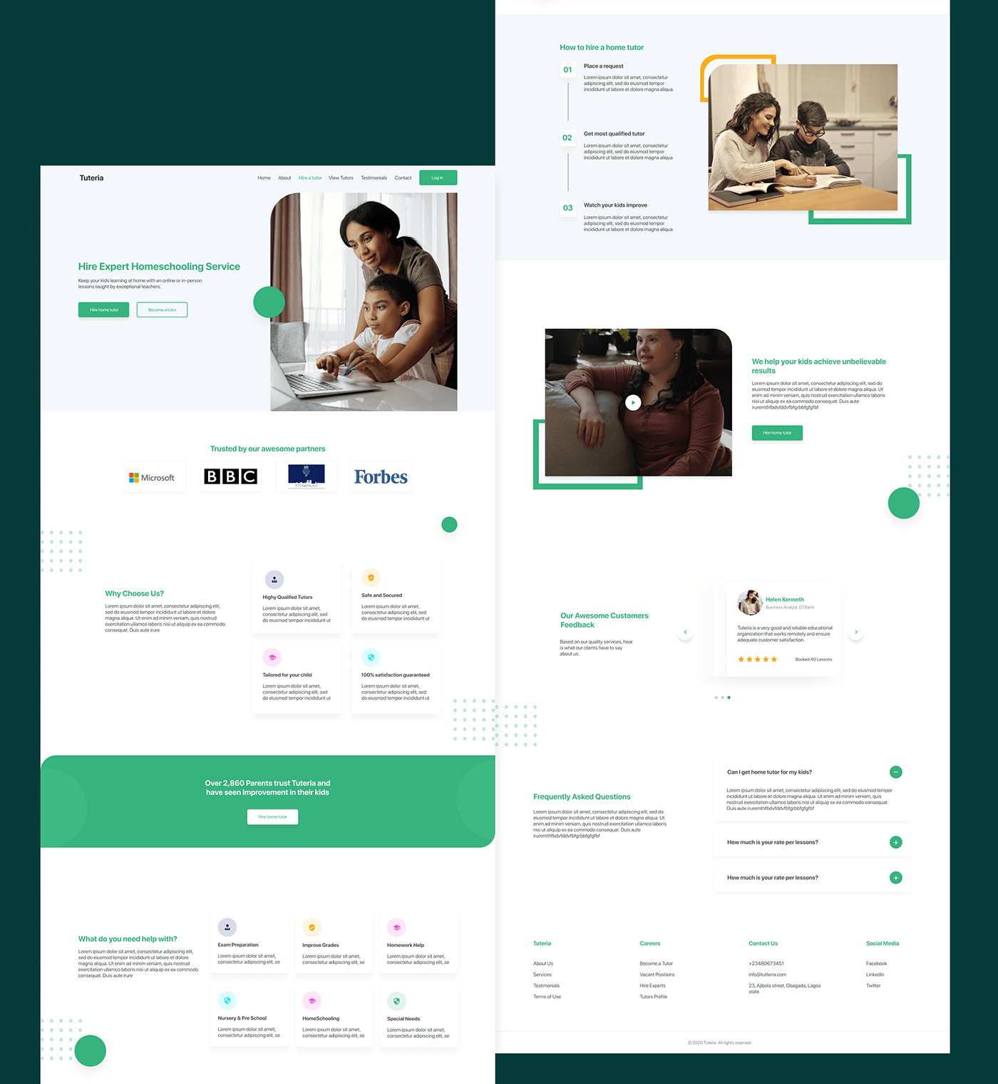 design online education UI school UI design UI ux Website
