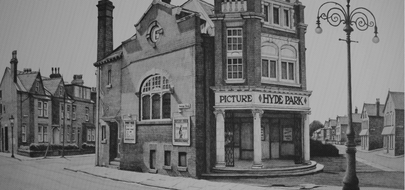 picture house Cinema leeds Independent festival films pictures hyde park alphabet made by alphabet sign painting type sign craft hand
