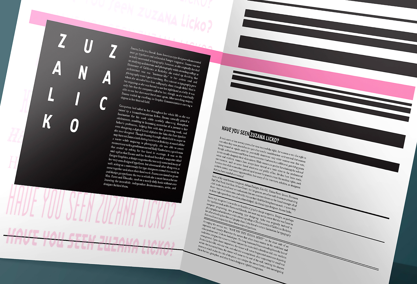 Have You Seen Zuzana Licko? on Behance