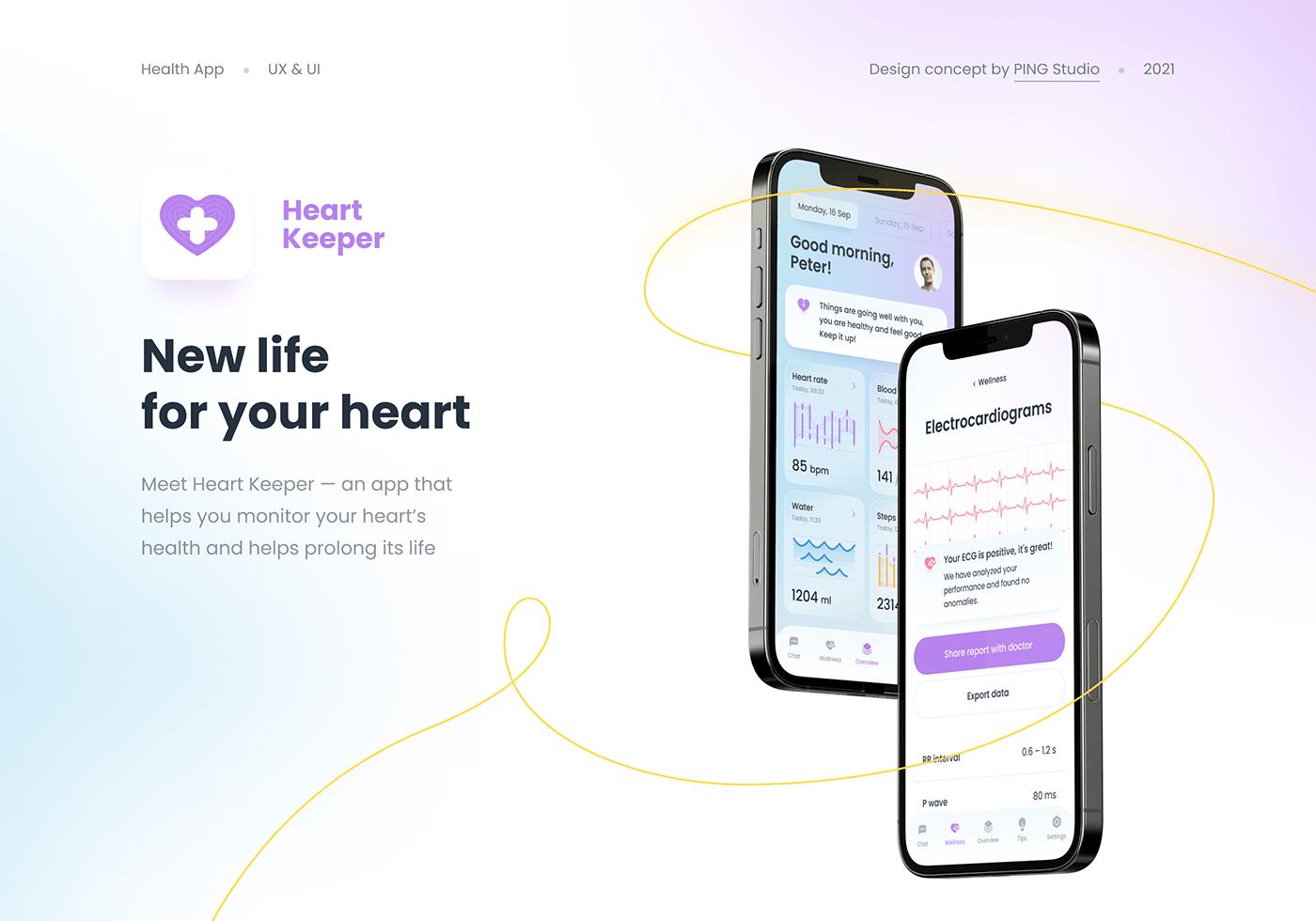 app doctor Health ILLUSTRATION  medical mobile UI ui ux ux