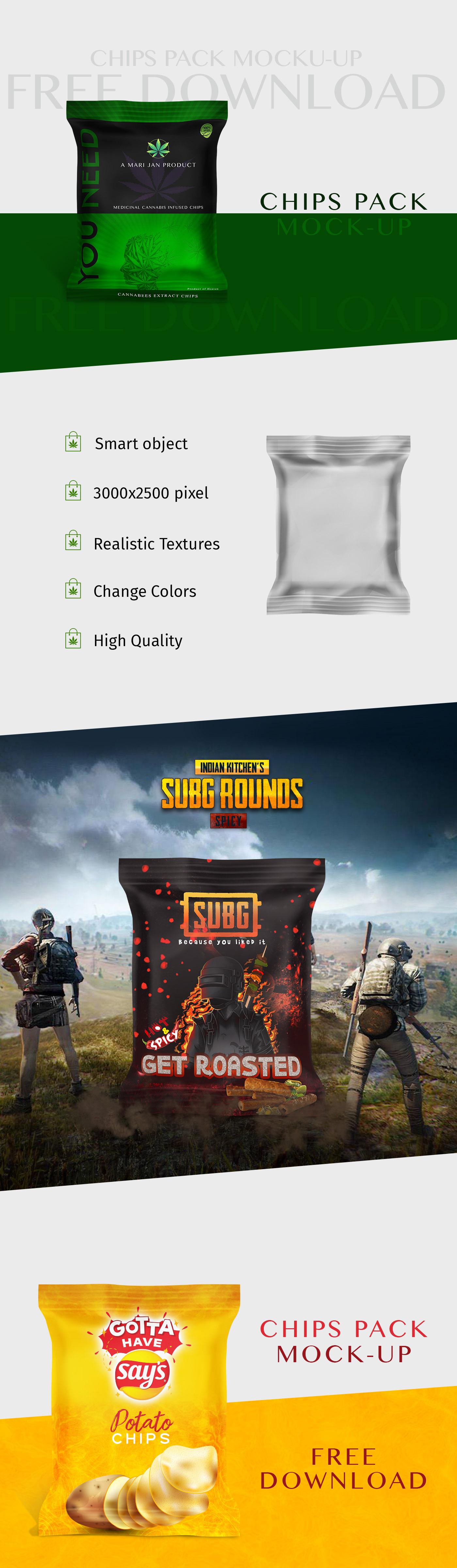 branding  Chips Pack free download free mockup  freelancer Mockup Packaging satheeshlive