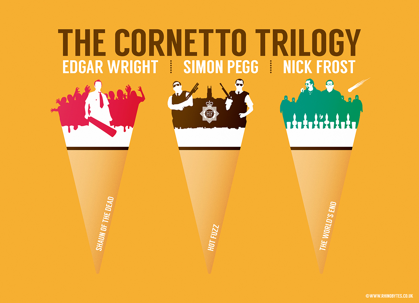 The Cornetto Trilogy On Behance