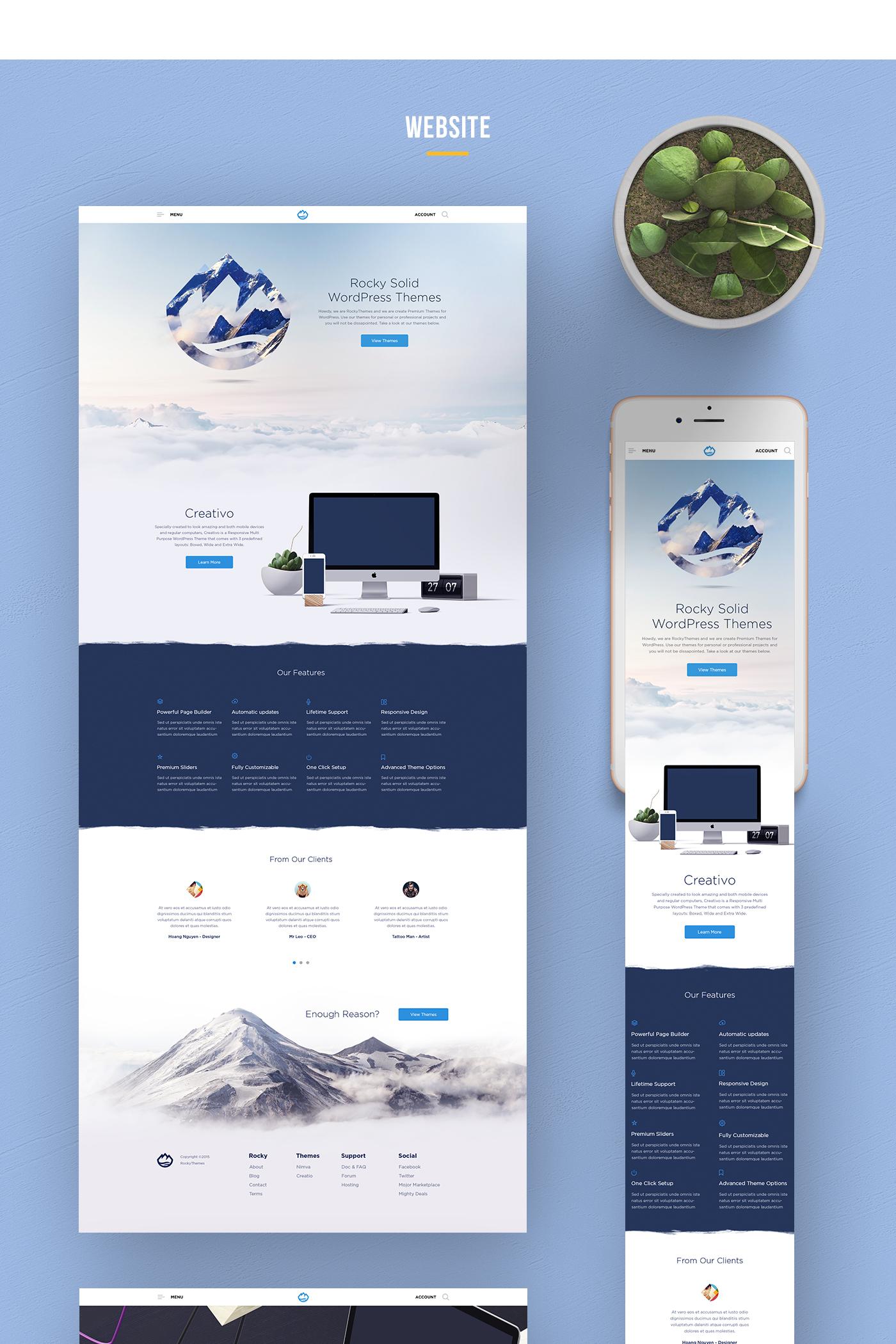 vietnam UI Website redesign mountain Theme landingpage rock clean cloud logo brand