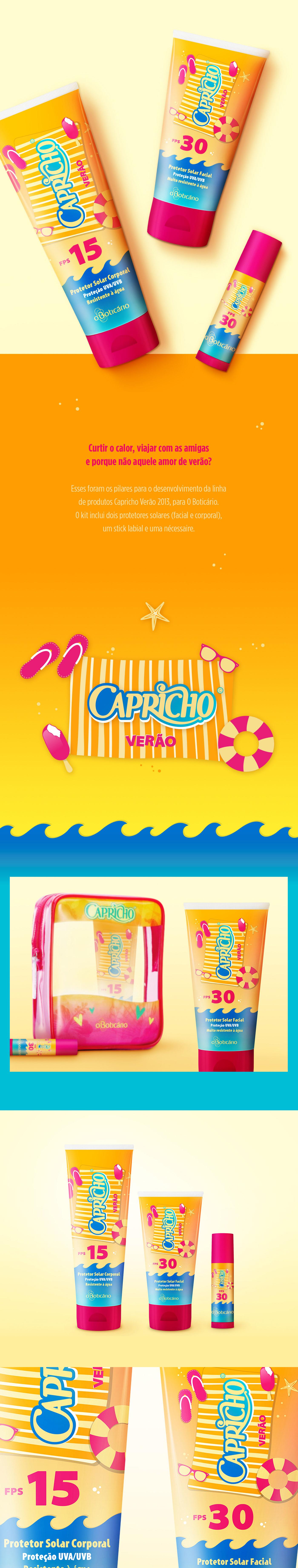 summer beach Young Fun girl Hot ice cream Packaging sunscreen Boticário