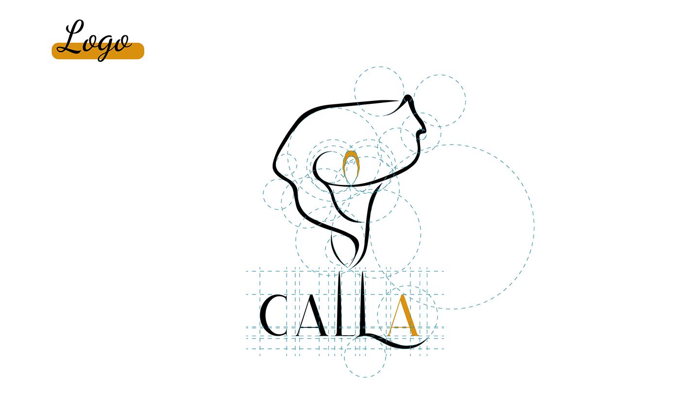 Decoração design Logomarca delicadeza Sofisticado
