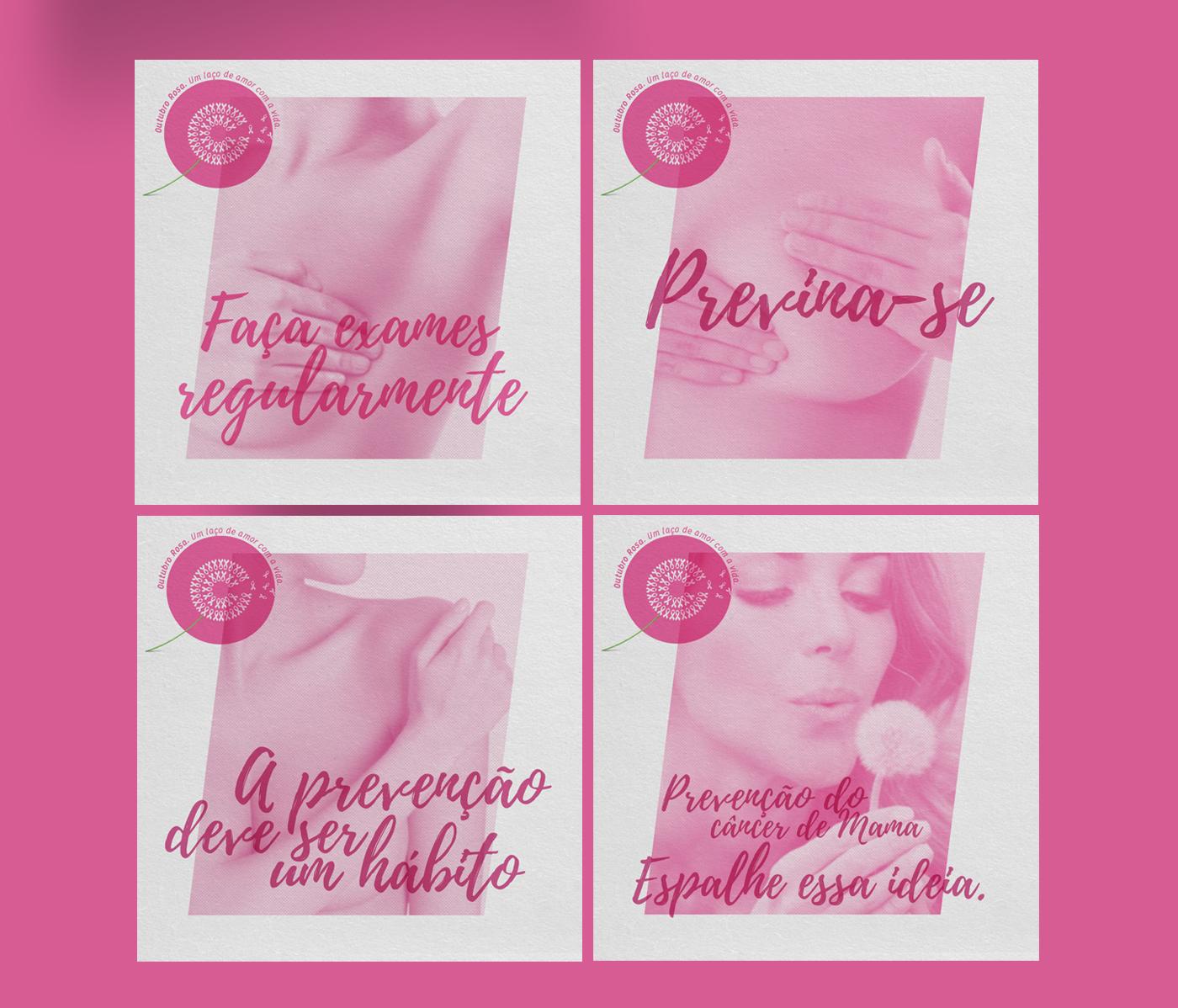 design Viação Garcia Brasil Sul Propaganda mídia social outubro rosa pink october facebook social media breast cancer awareness