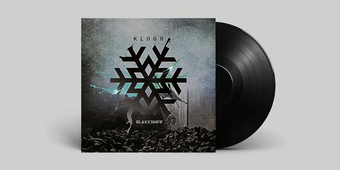klogr black snow artwork musicartwork graphics design progettazione grafica