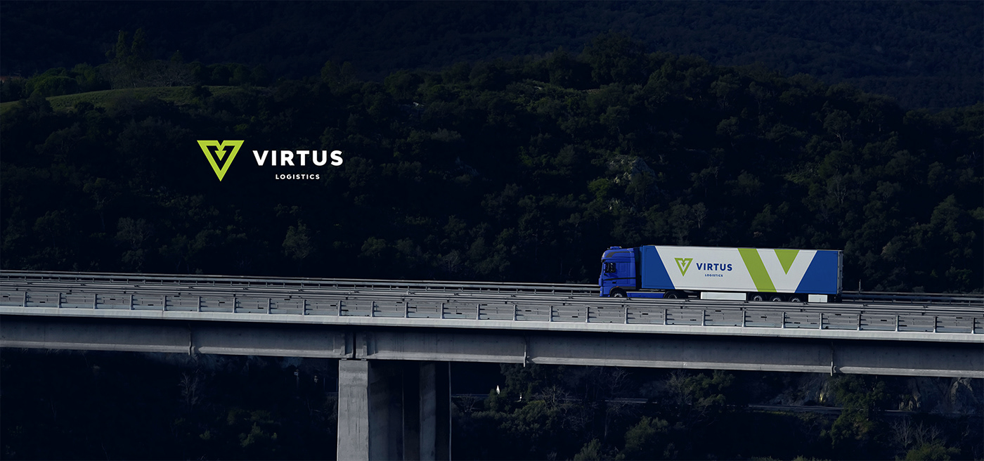 blue car company lime Logistics rebranding spedition transportation Truck