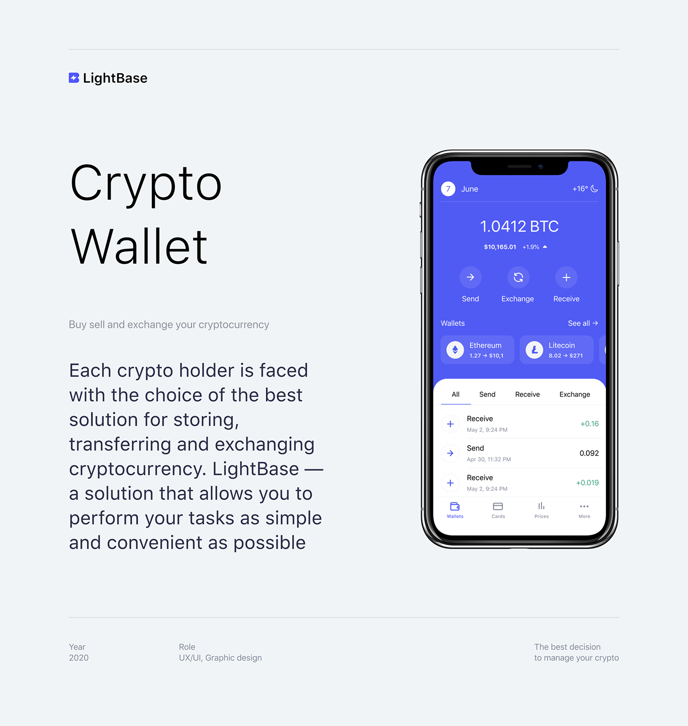 app application crypto wallet exchange money icons Logo Design Mobile app pocket Recieve money Send Money
