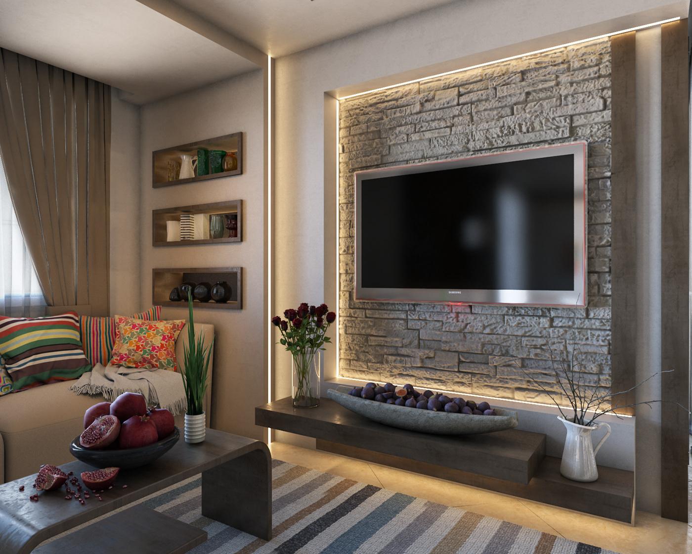 Interior design visualization 3ds max vray photoshop architecture graphics Motaz mostafa