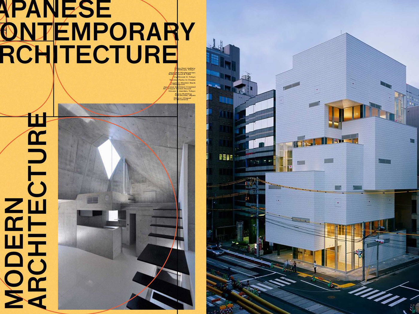 JAPANESE CONTEMPORARY ARCHITECTURE POSTER On Behance