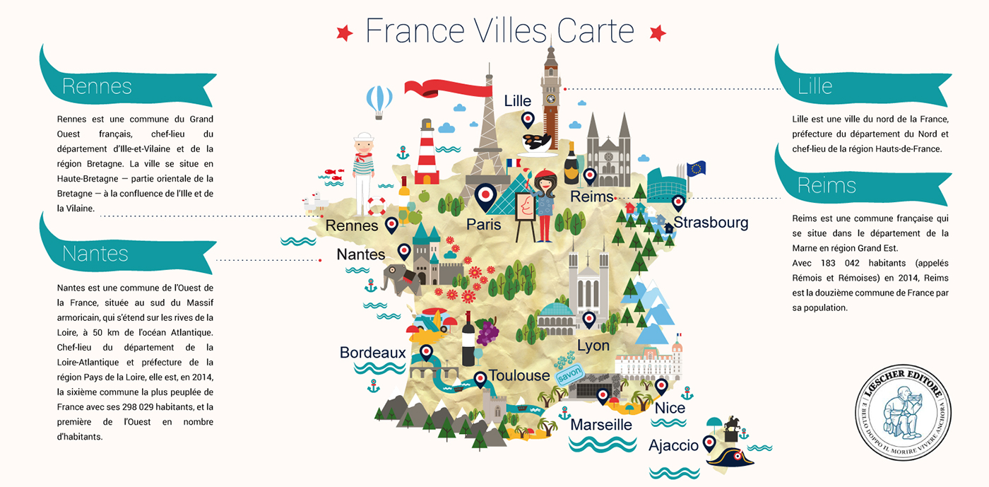 Map Of France In French Language.French Language Course On Behance