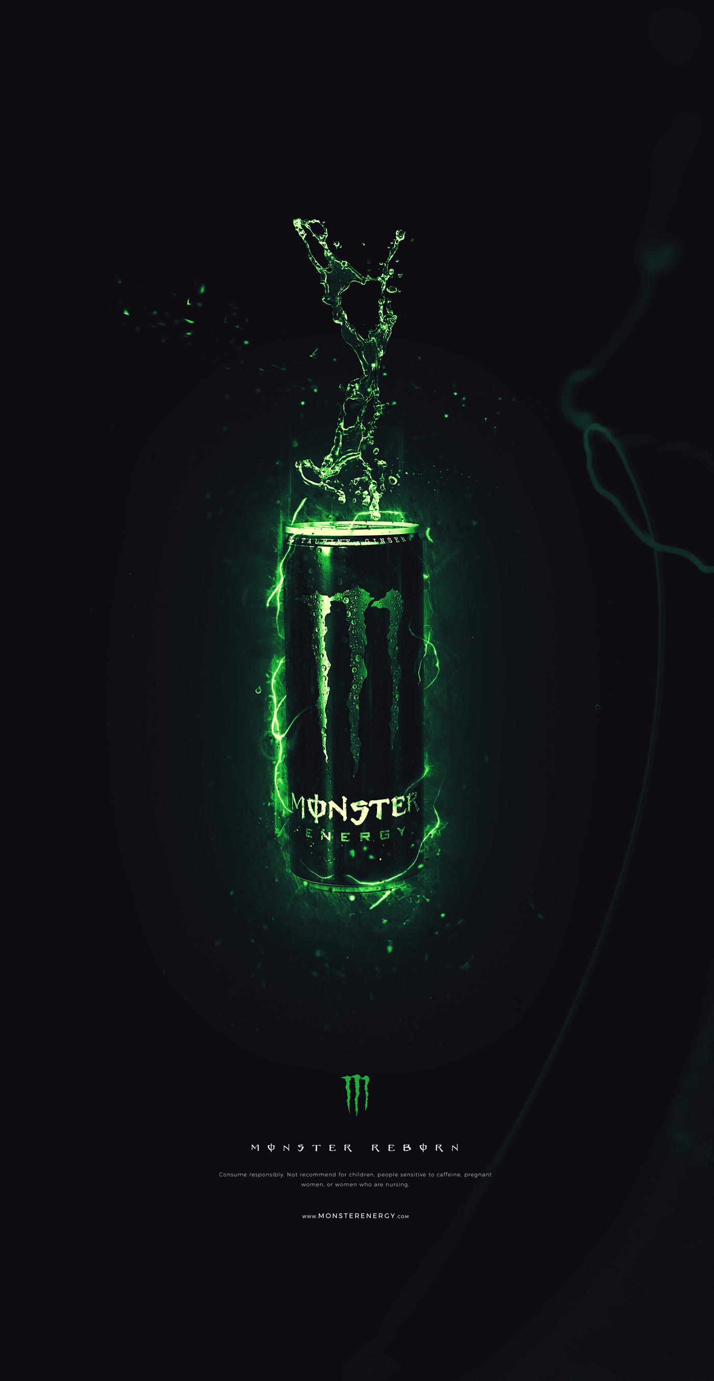 stunning Advertising  drink beast cool Aggressive monster energy