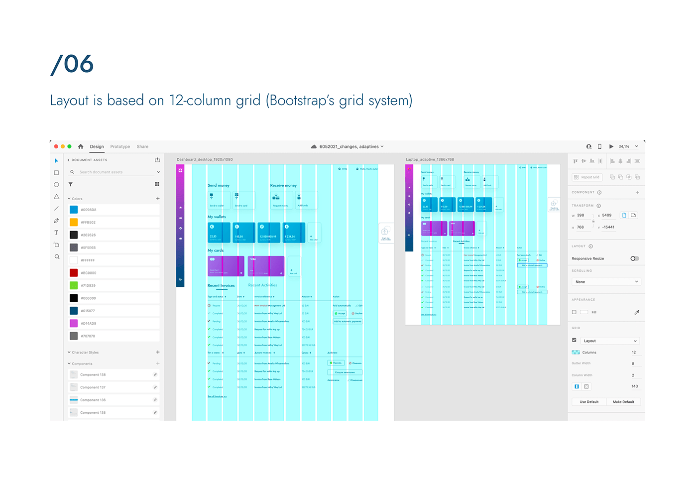 Adaptives animation  dashboard e-wallet