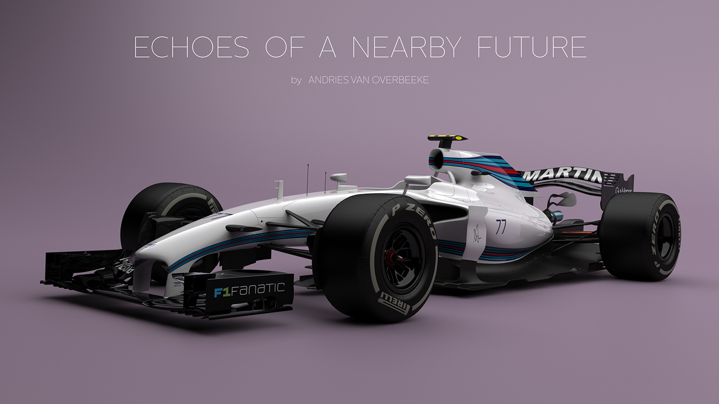 Adobe Portfolio Formula 1 f1 williams Valtteri Bottas concept art future Solidworks