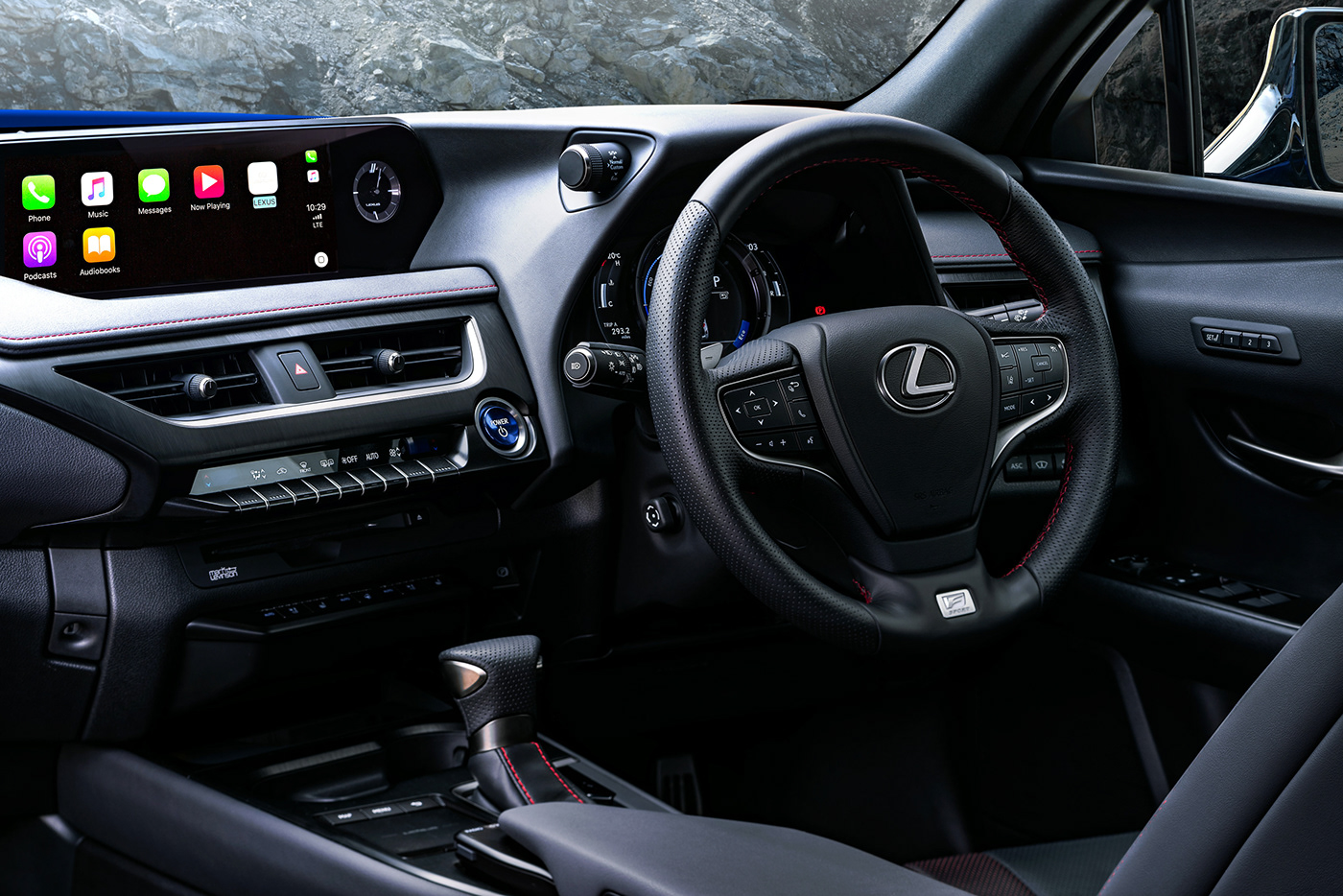 Lexus UX Hybrid car photography by Dean Wright Automotive. Lexus UX Car interior