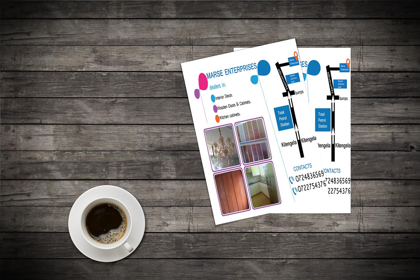 branding  flyer corporate branding graphic design