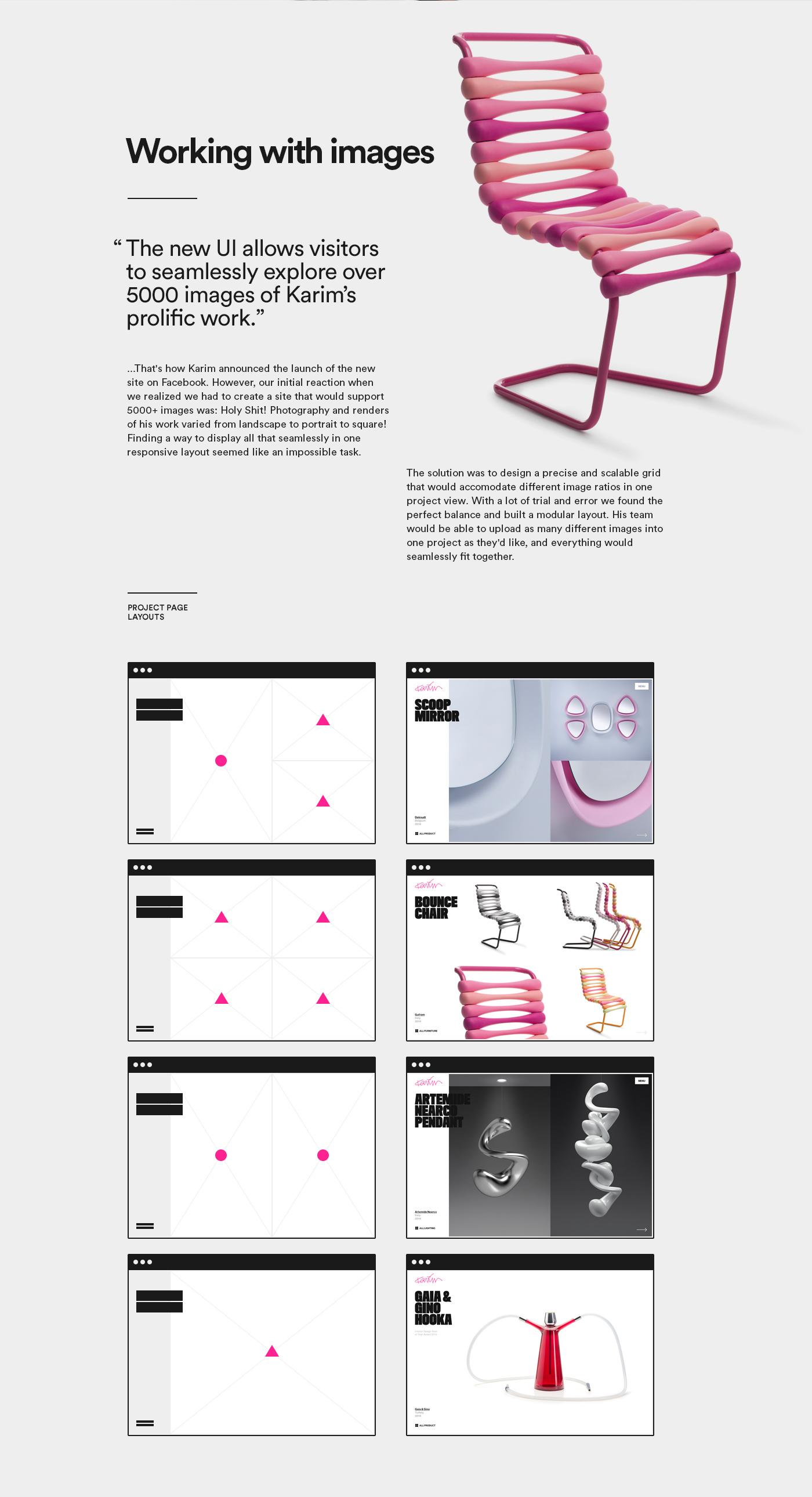 Karim Rashid design portfolio Responsive web site