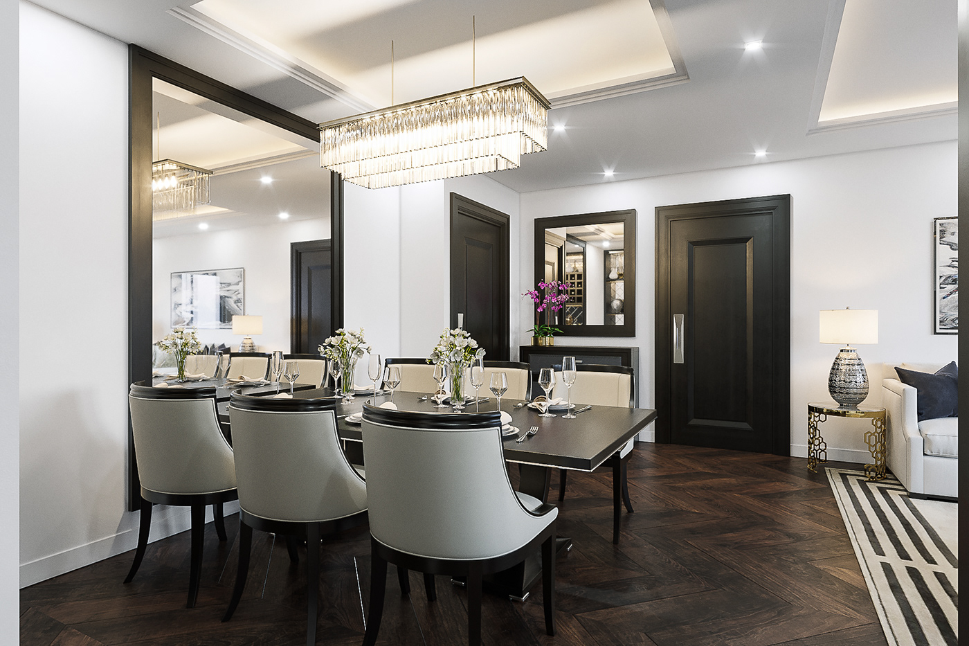 Luxury Apartment Living Dining Room