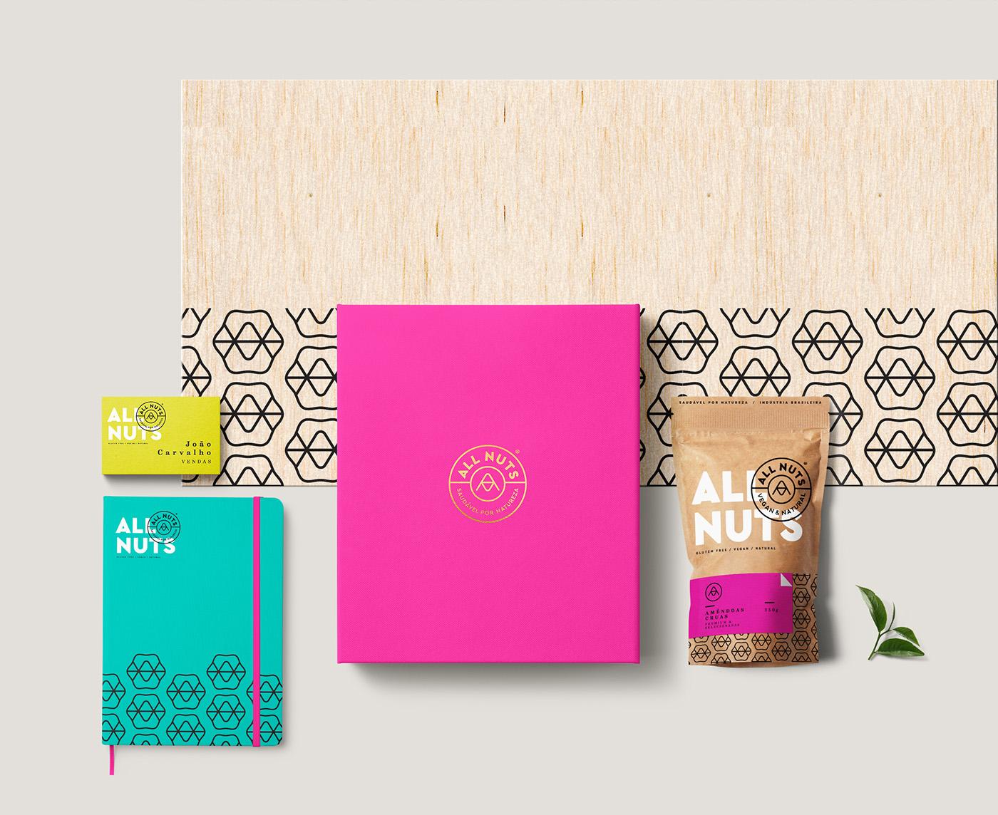nuts natural colorful Brazilian healthy Fun modern castanhas monogram eco