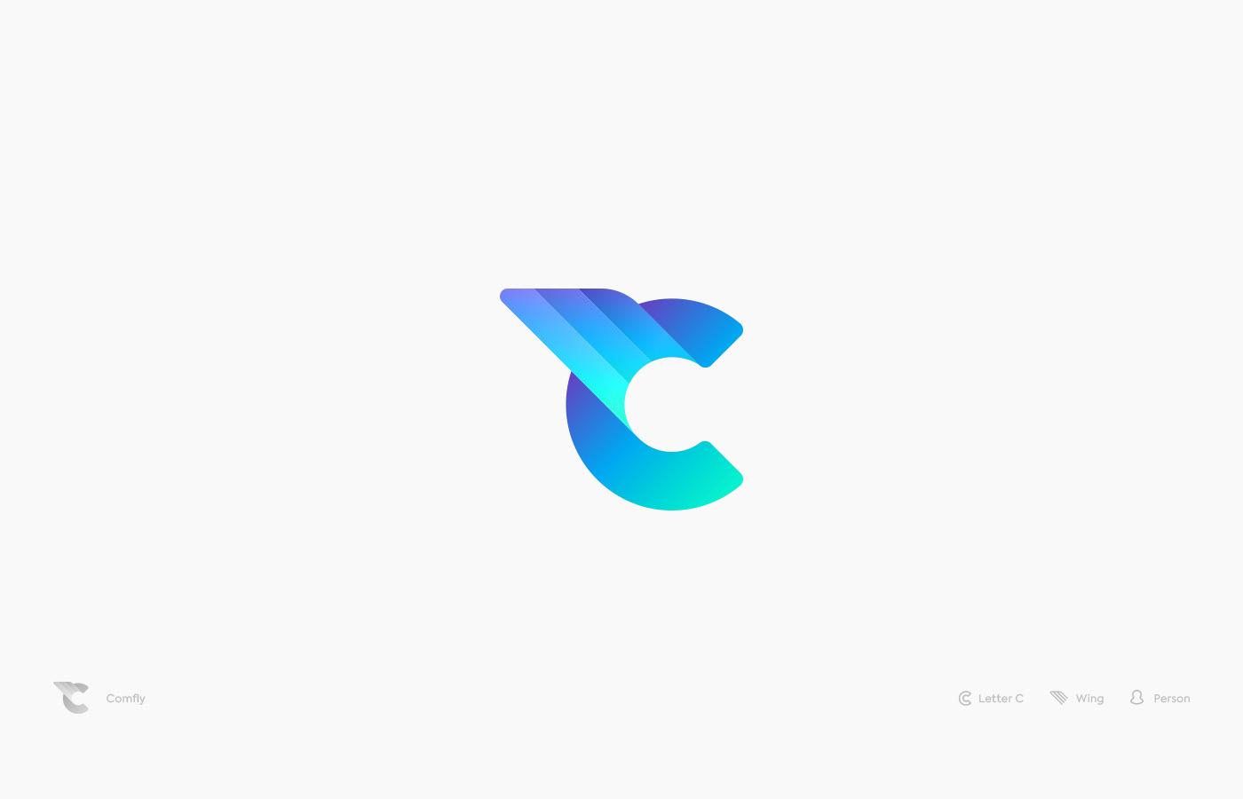logo Logotype typography   Icon identity lettering isometry geometry minimalistic Unused
