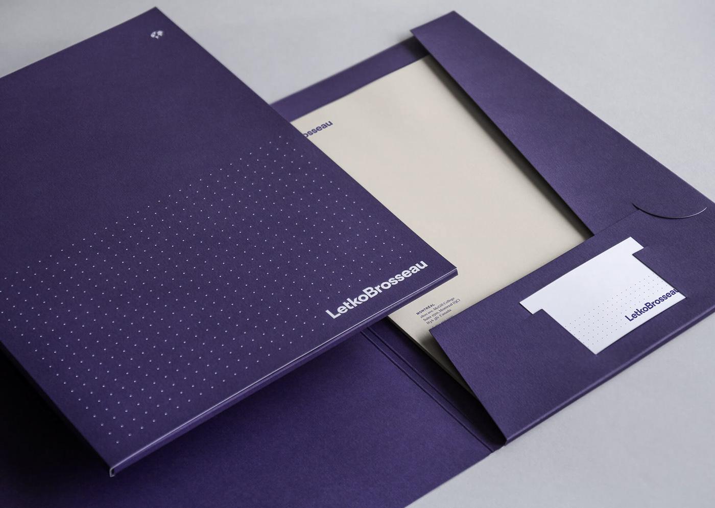 identity logo corporate branding  typography   eggplant purple finance Montreal