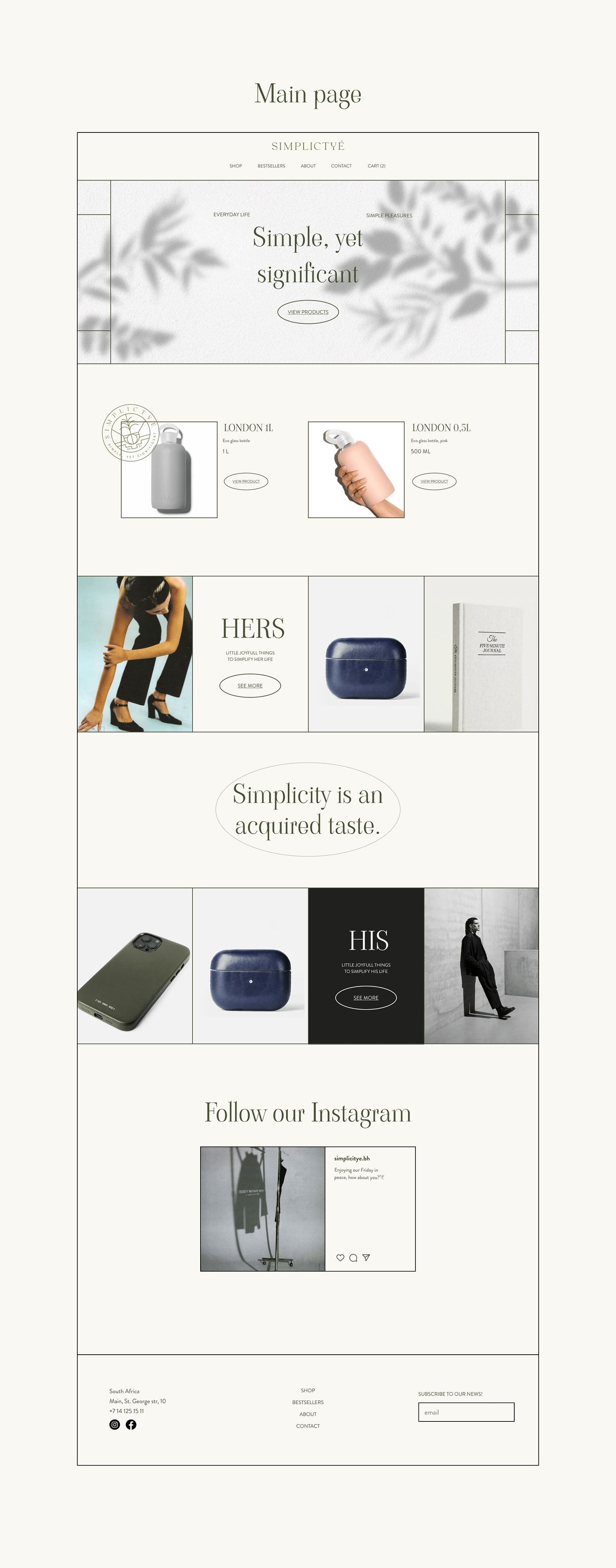 beauty e-commerce Fashion  Interaction design  lifestyle Minimalism UI ux Website
