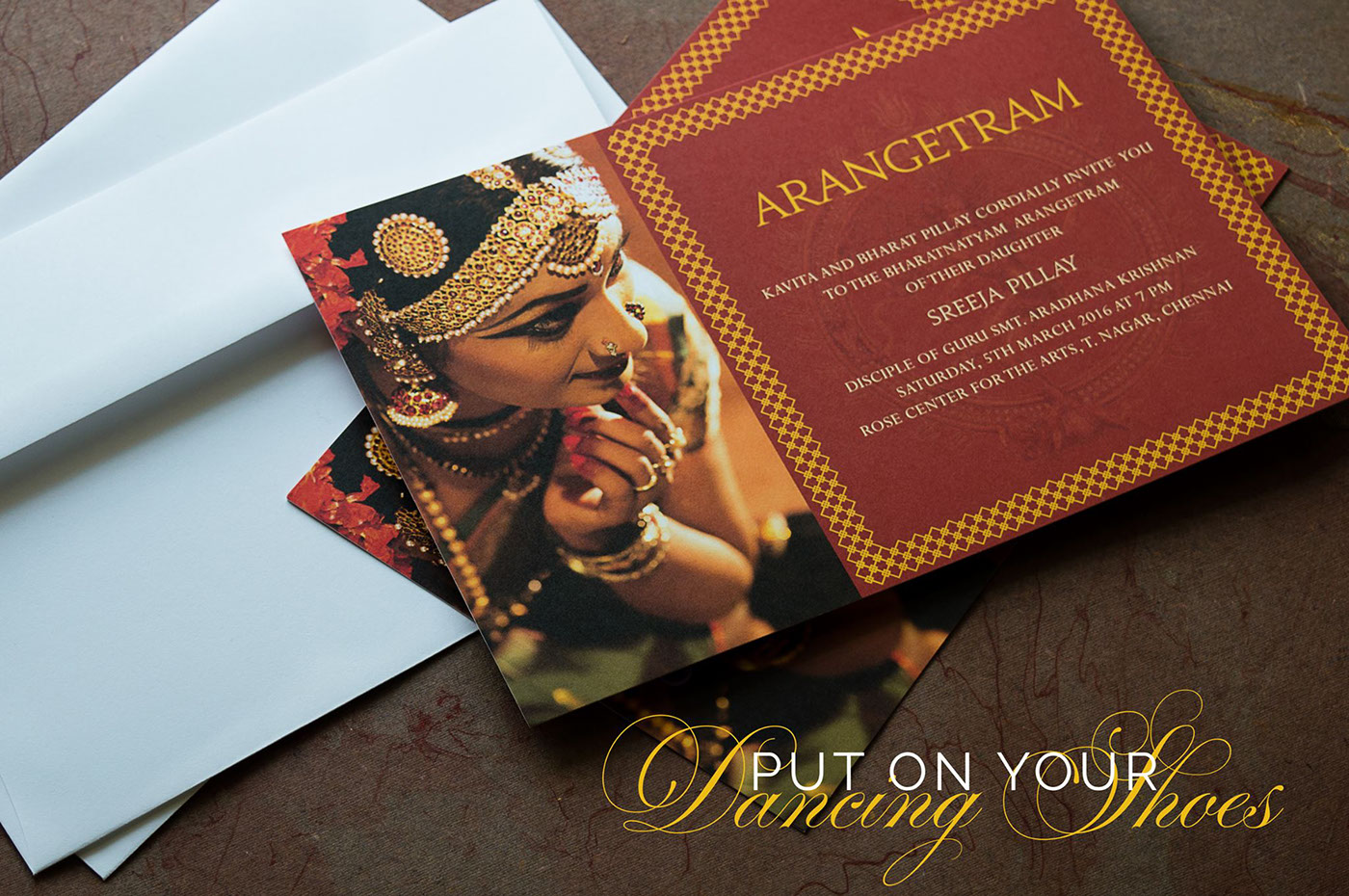 Earthy Nataraja Arangetram Invitation For Inksedge On Behance