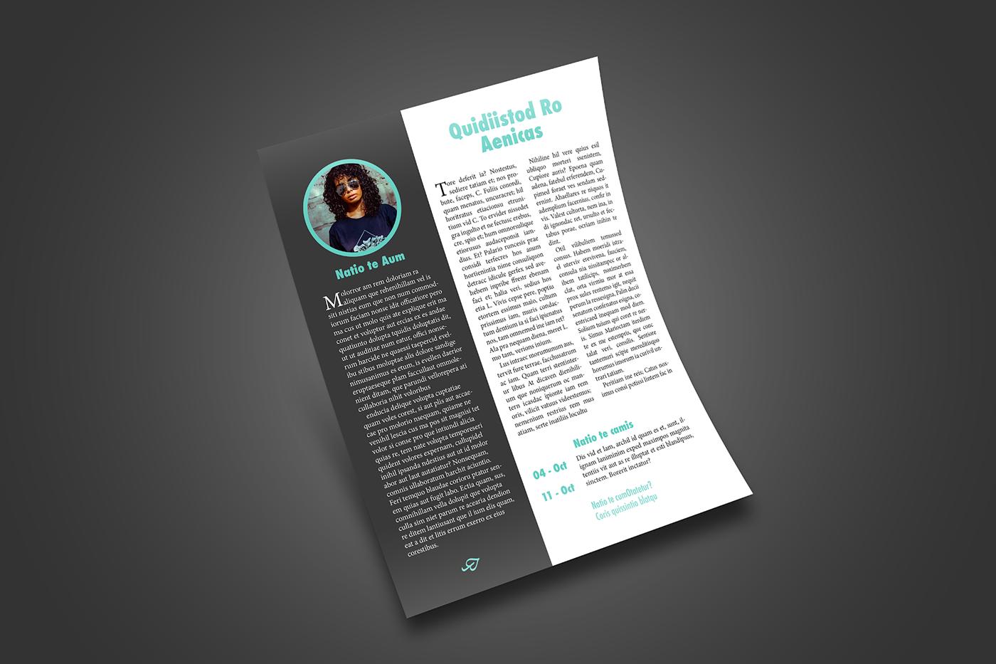 Company Bio Profile Newsletter Template On Behance