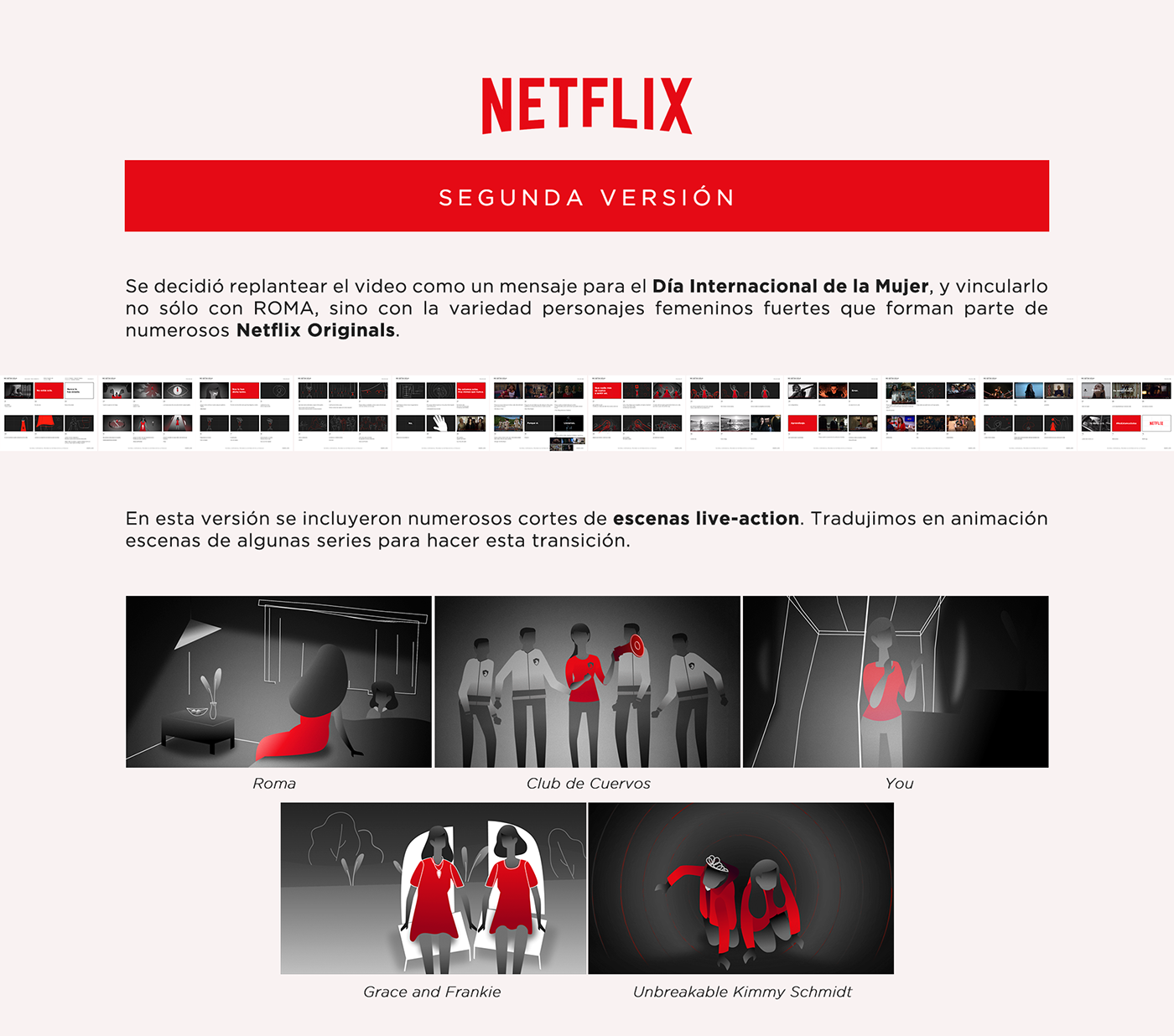Hunters Netflix motion graphics  animation  women puppet rig 2D Character roma