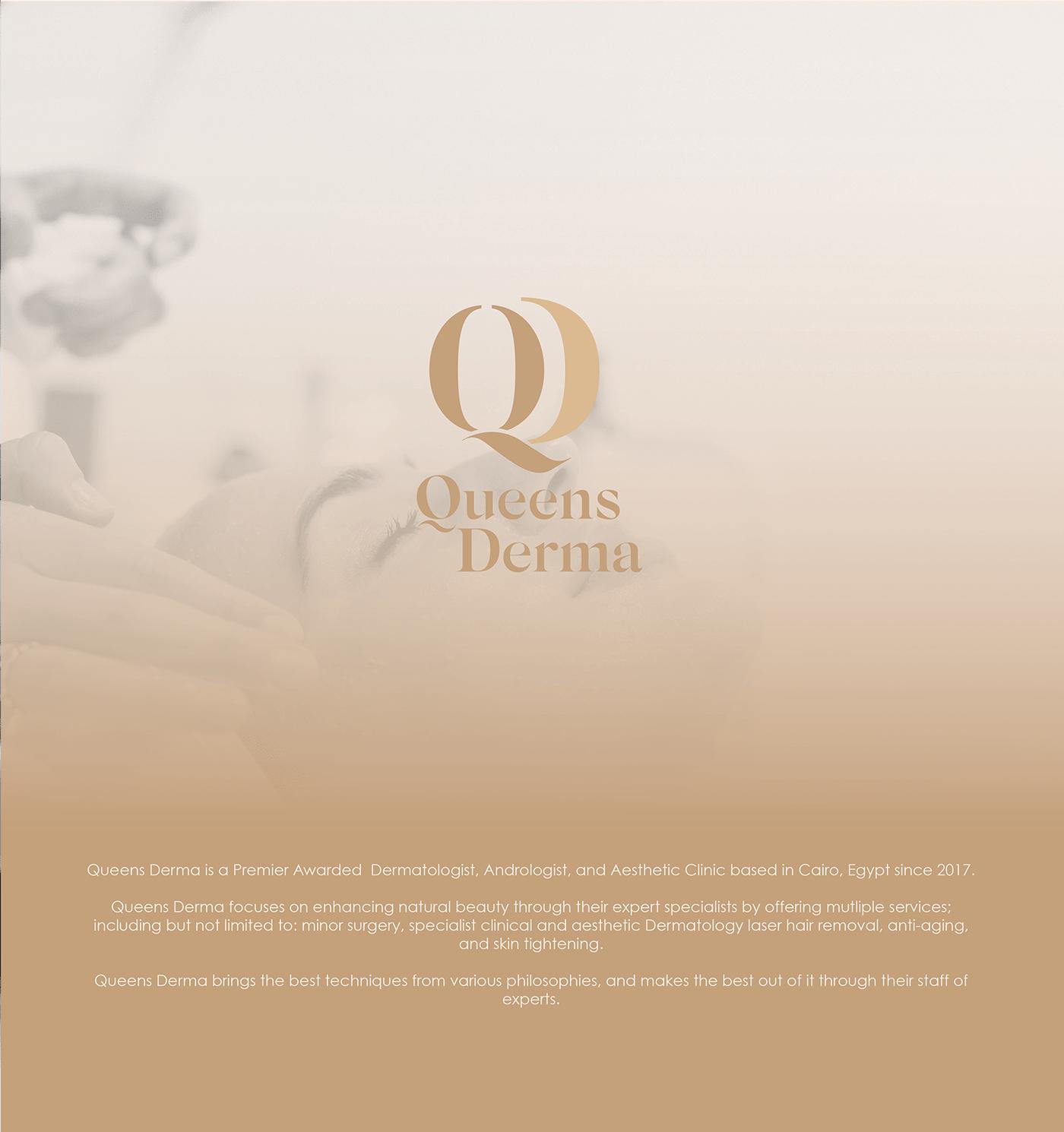 branding  clinic dermatologist doctor elegant medical branding nude colors Queens skincare Stationery