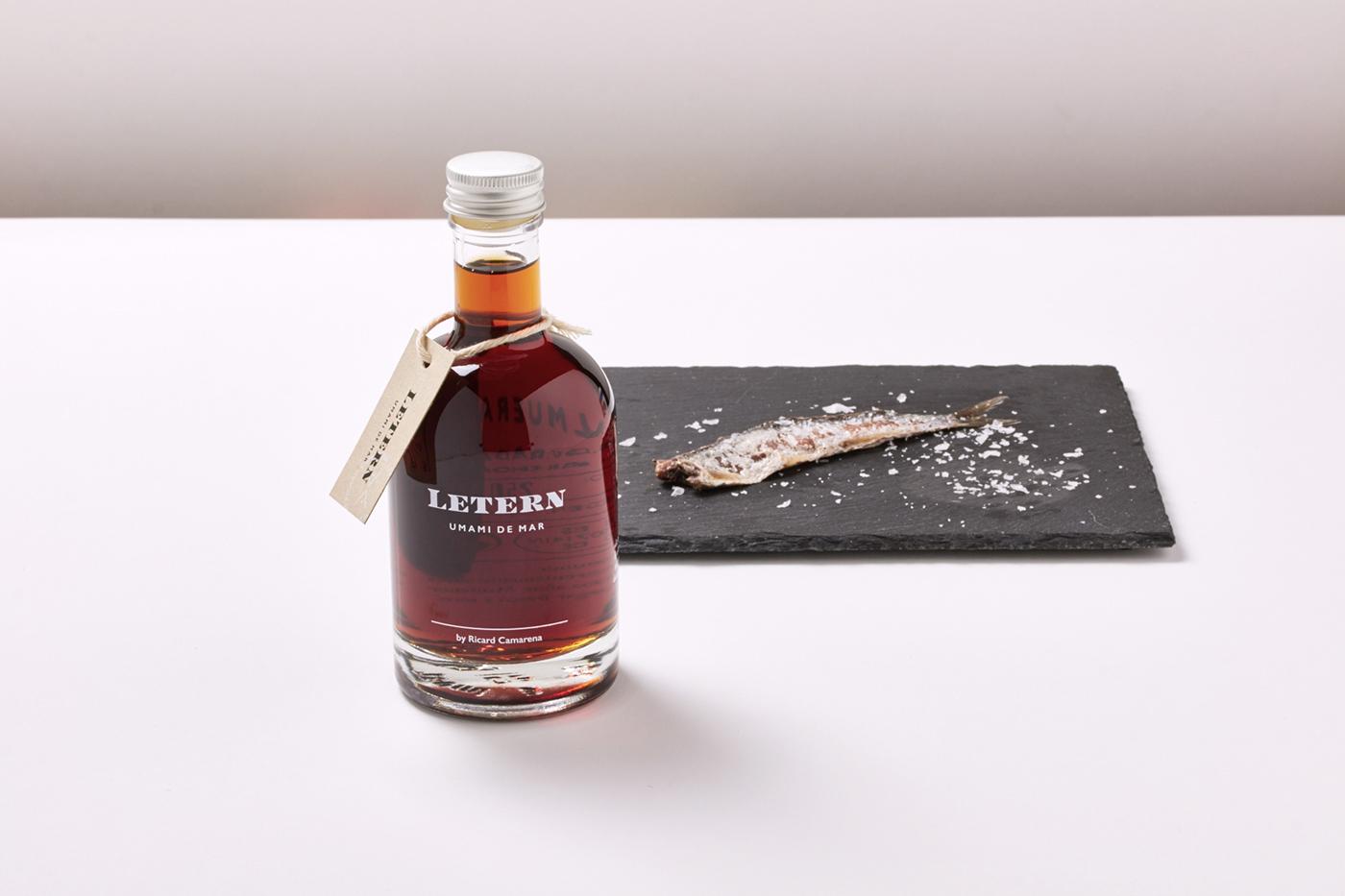 Letern anchovy sauce colatura anchoas  umami camarena lettering Packaging brandsummit