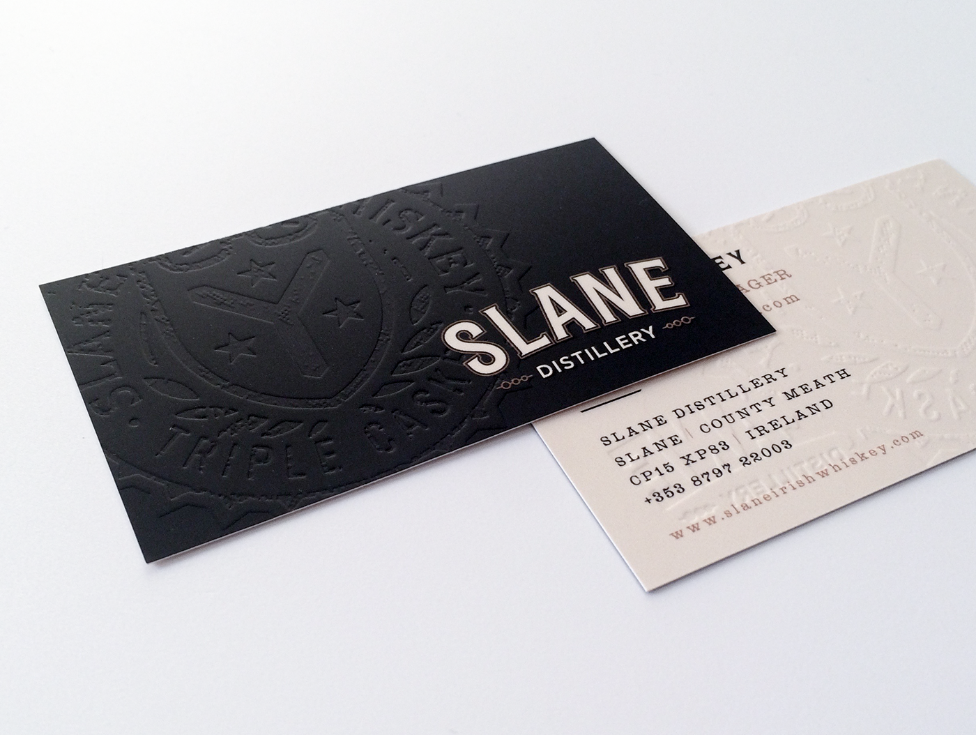 Embossed business cards on behance embossed business card printing we printed these cards on a heavy silk card stock with a soft touch laminate reheart Images