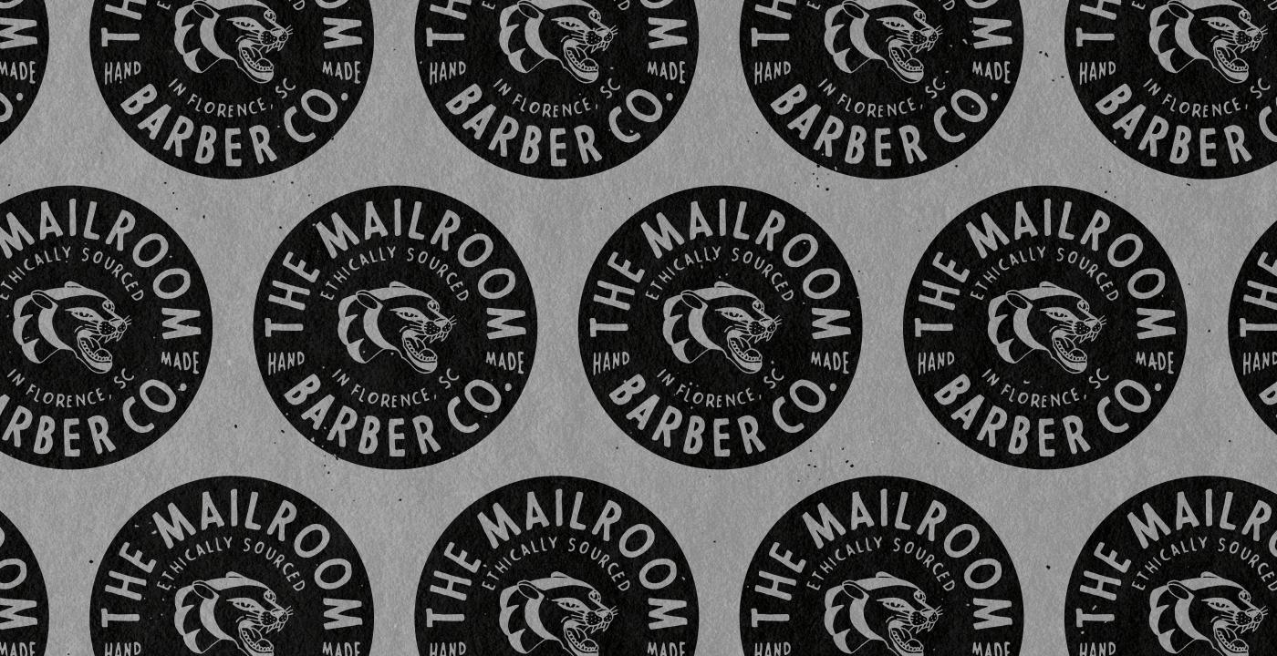 t-shirt barber hand drawn lettering tattoo panther ILLUSTRATION  vinatge Retro Packaging