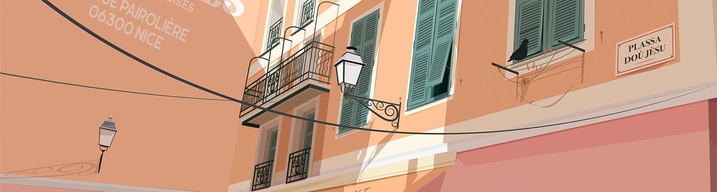 #ilovenice affiche Nice côte d' azur french riviera ISSA lecoupdulapin nissa nissarde.com poster Nice Ville de Nice
