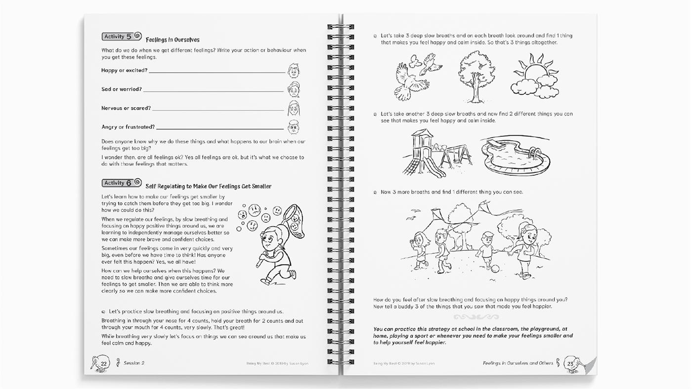 New Zealand workbook being my best resilience susan lyon sue lyon kiwi confidence illustrations whanau