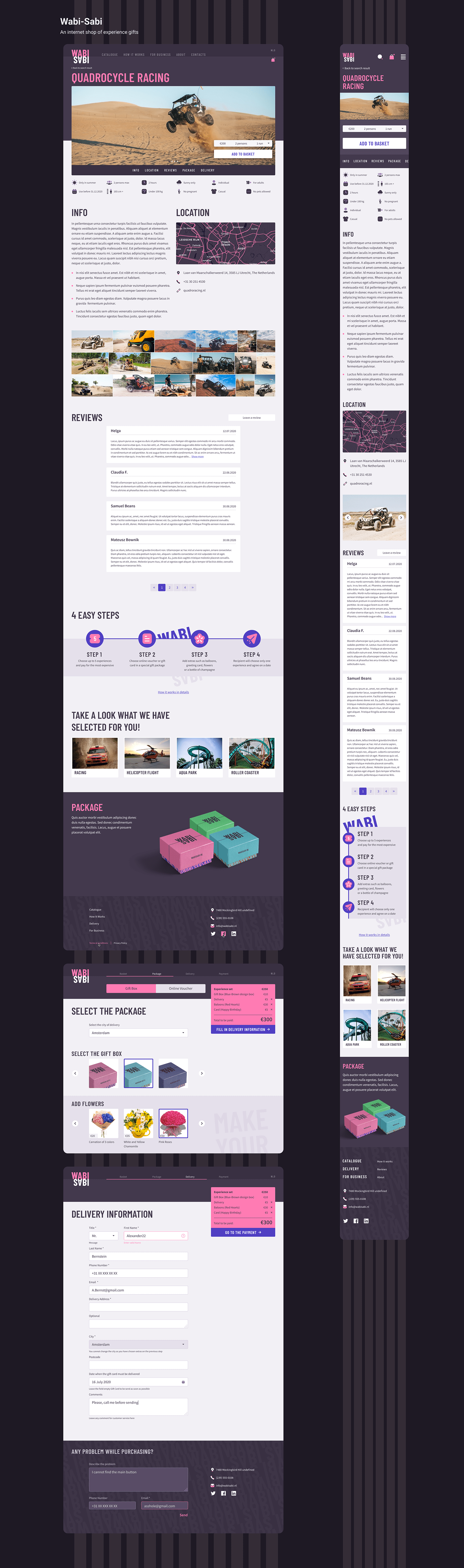e-commerce internet shop shop UI ux Web Design