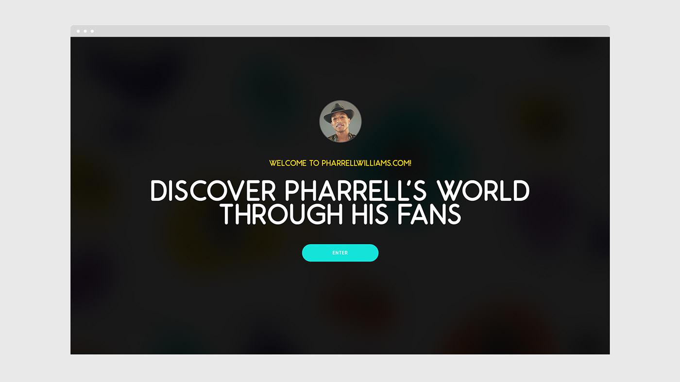 Pharrell pharrell williams portfolio personal website hip hop music Fashion  art design Film