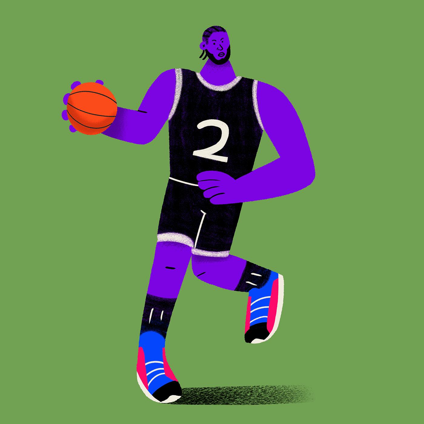 advertasing Character colorful editorial NBA