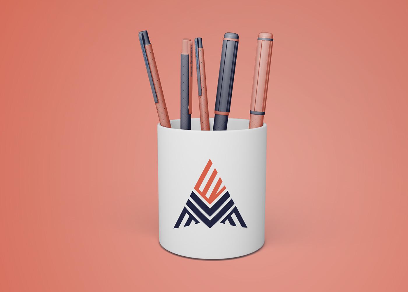 branding  business company ecv identity Logo Design mars typography   visiting card visual