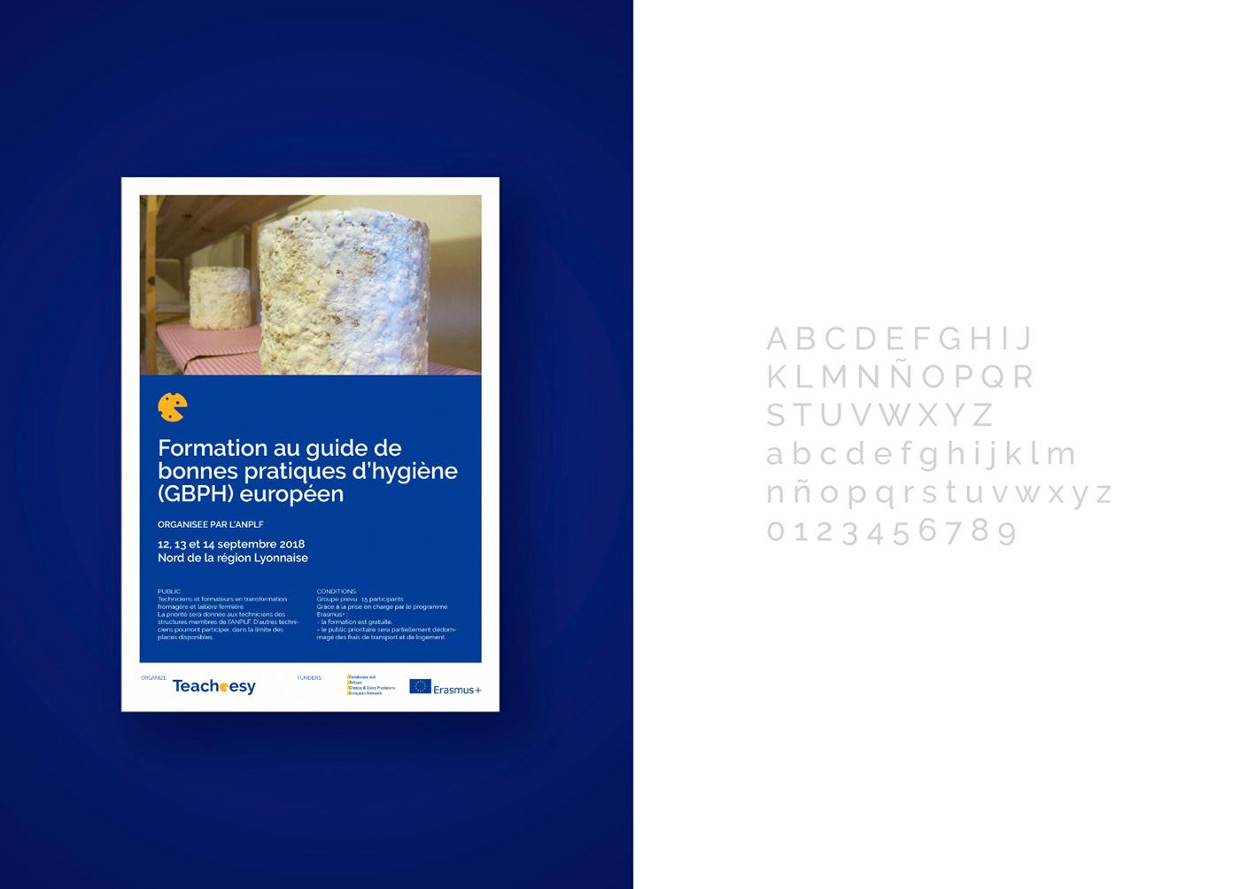 Cheese Logotype brand design visual presentation newsletter Documents European Union Dairy