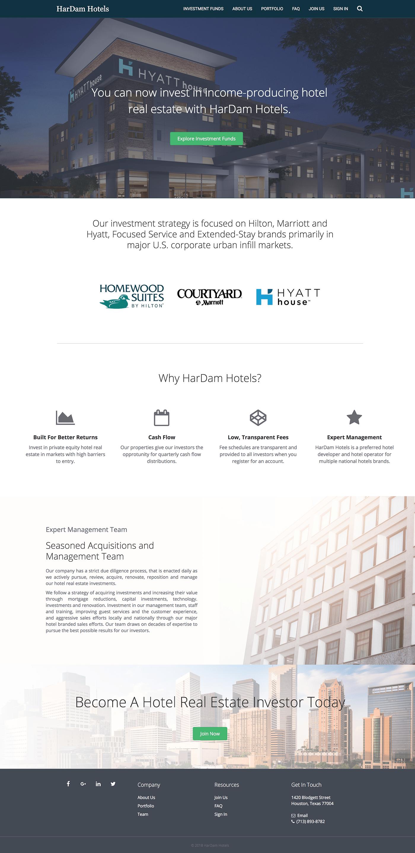 hotel design investing fundraising finance