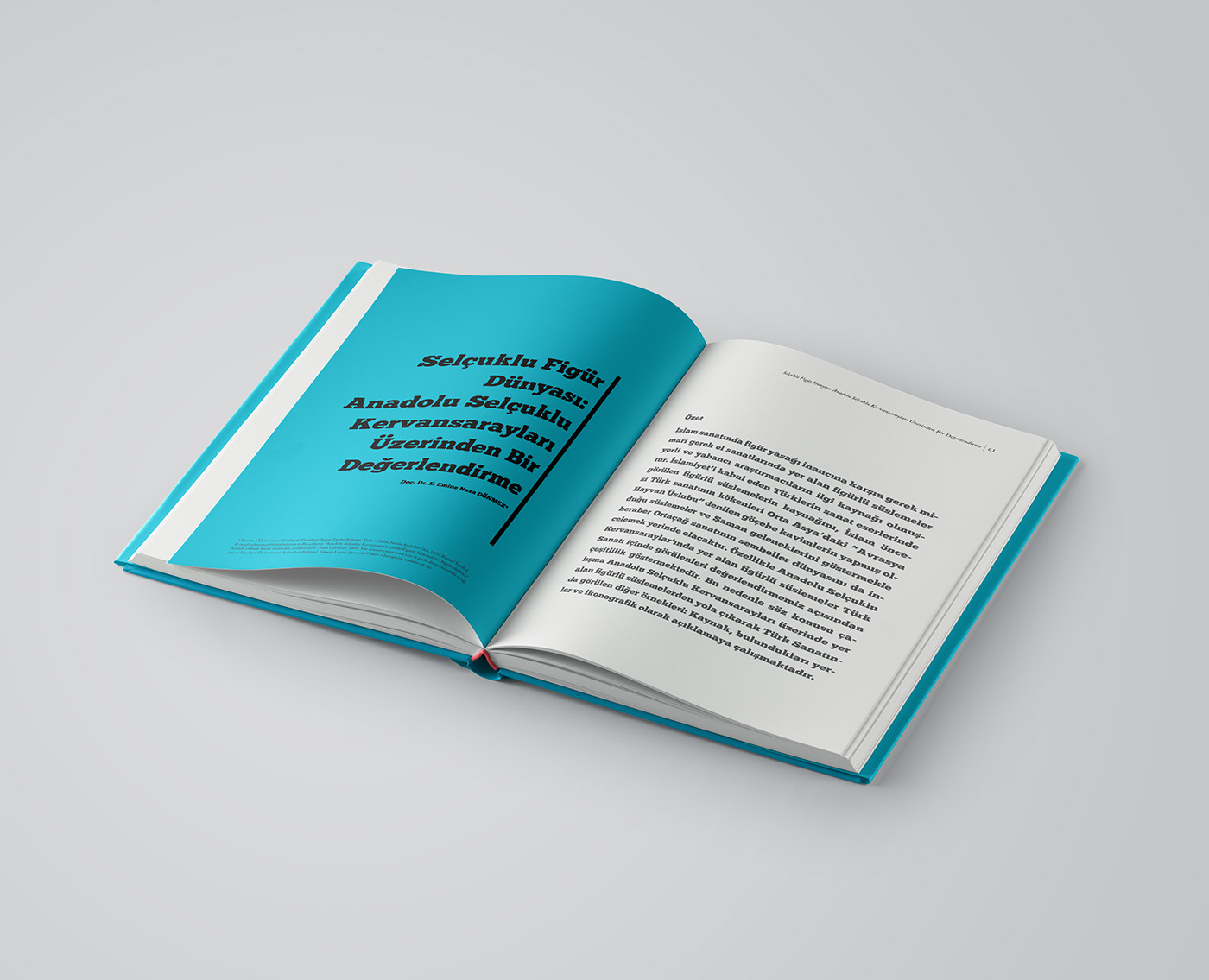 Seljuk Empire geometry book cover Layout hardcover graphic design
