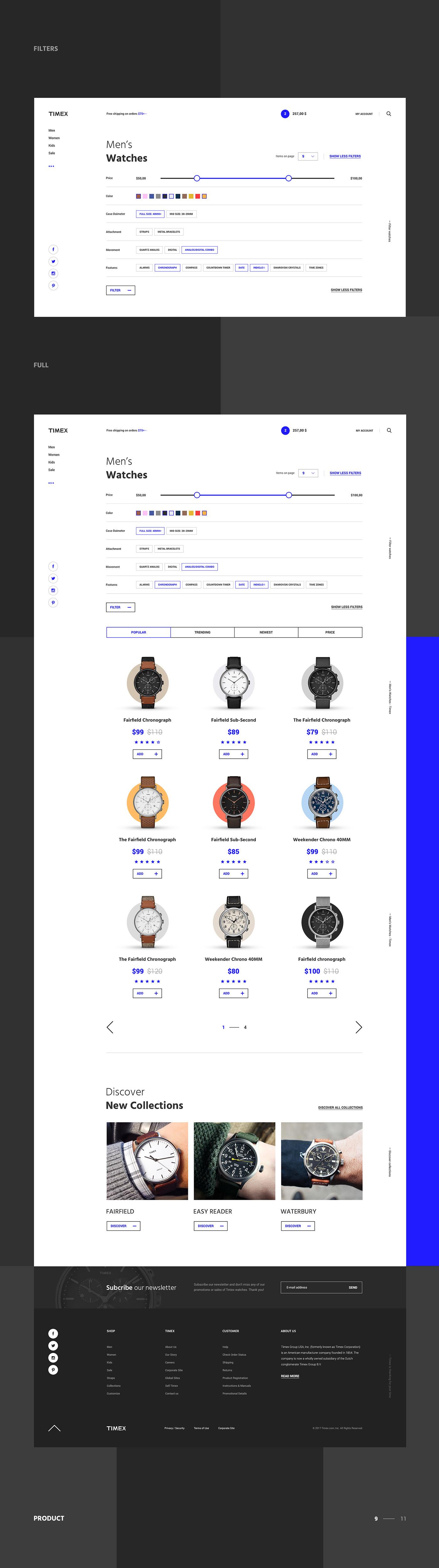 store,concept,UI,ux,shop,Ecommerce,watch,minimal,flat,clean