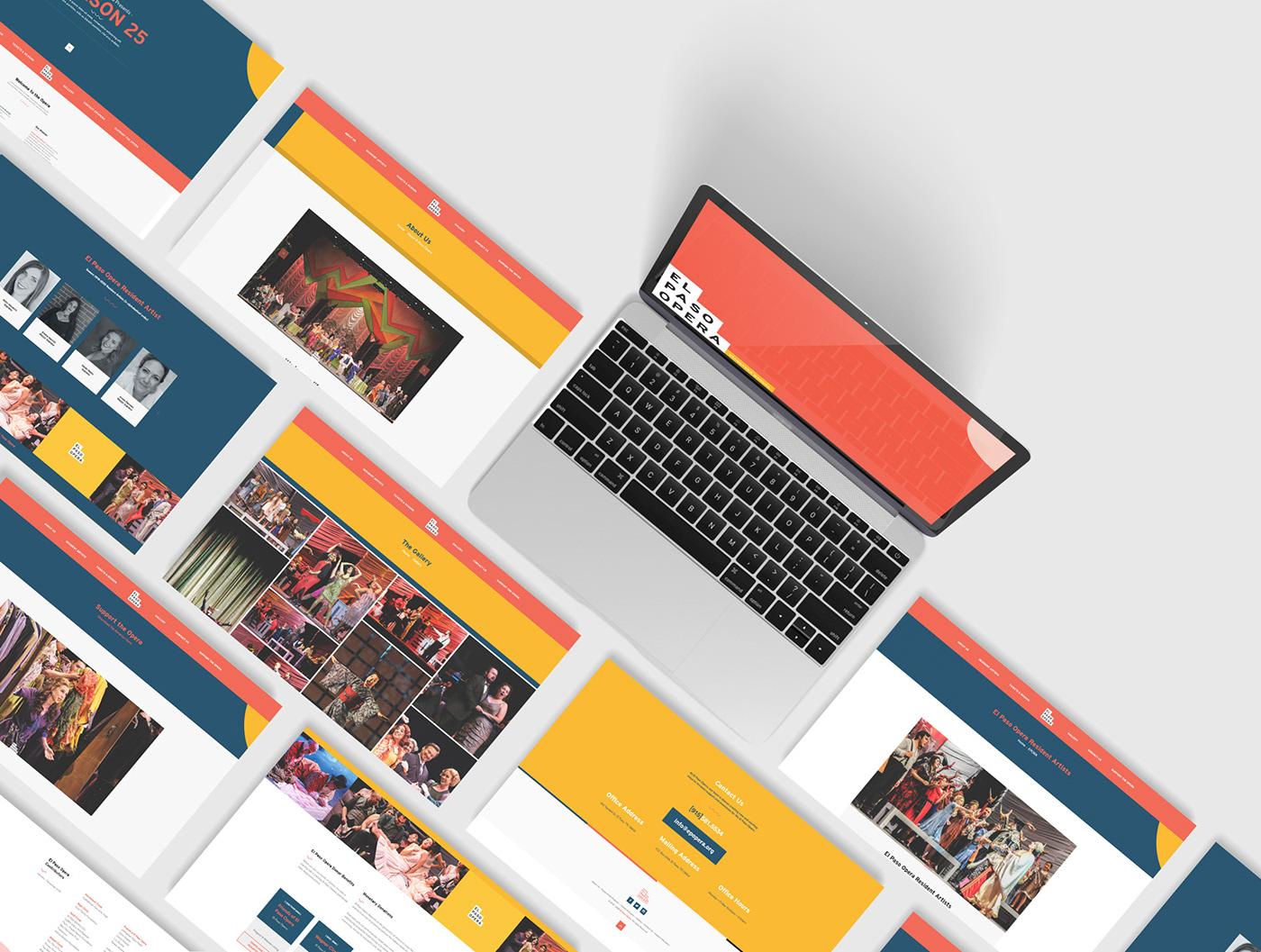 el paso opera Responsive Web Web Design  Website