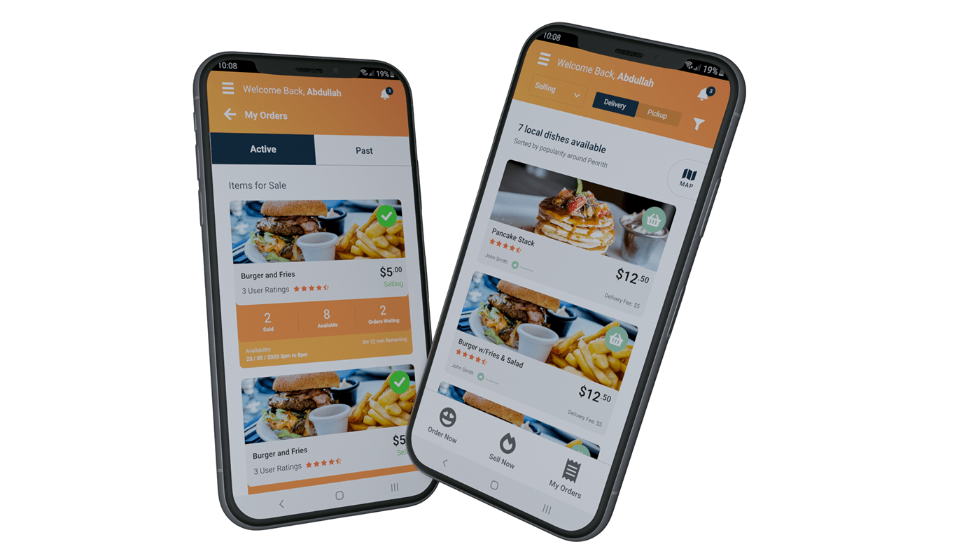 android delivery Food  homemade food ios Mobile app