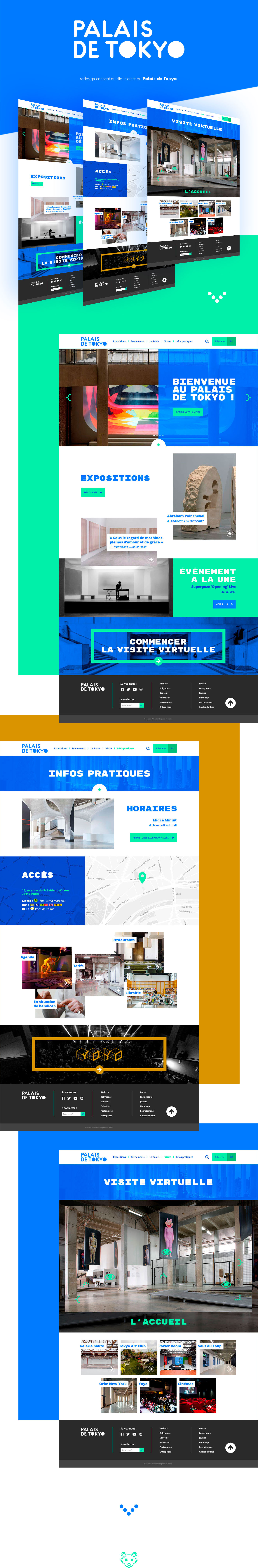 Webdesign UI redesign palais de tokyo direction artistique