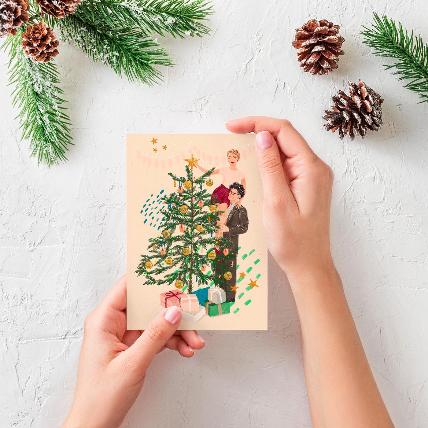 精細的28款聖誕節賀卡欣賞