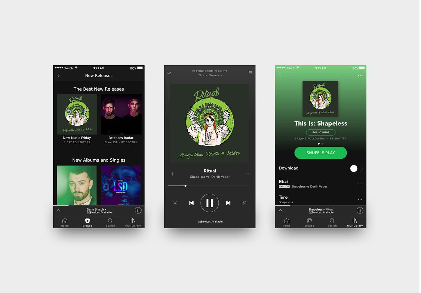 cover LP Album spotify shapeless eletronico Capa disco musica