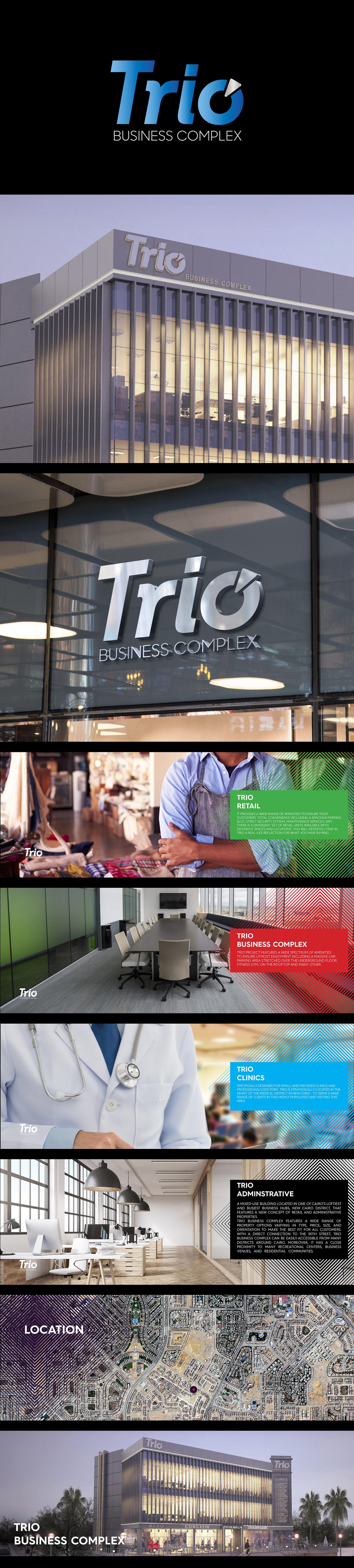 saeed elgarf identity saeedelgarf Trio business Corporate Design shopping mall egypt Logo Design